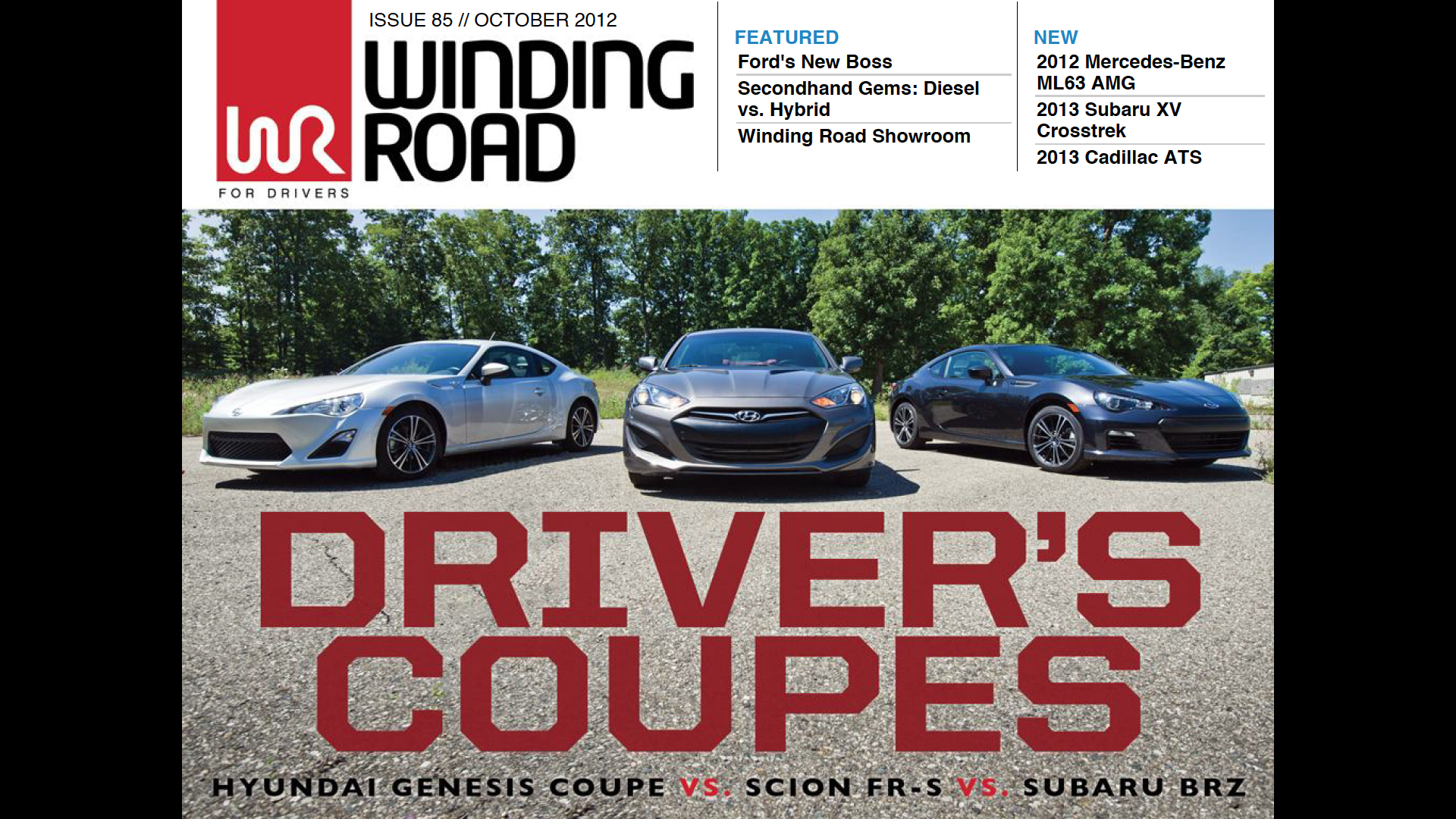 Driver's Coupes Issue 85 // October 2012