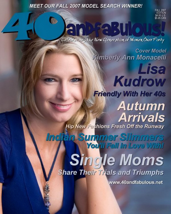 "Cover Photo for ""40 and Fabulous"" Magazine // Fall 2007"